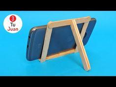 Diy Phone Stand, Diy Popsicle Stick Crafts, Support Telephone, Diy Room Divider, Diy Crafts For Gifts, Frame Crafts, Diy For Kids, Christmas Diy, Diy Projects