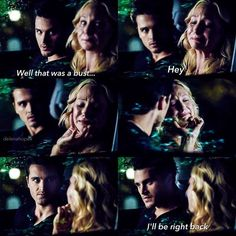 Vampire diaries the originals · caroline and enzo - most unexpected ship ever stephan and caroline, klaus Vampire Diaries Memes, Vampire Diaries The Originals, Enzo Vampire Diaries, Caroline Forbes, The Cw, Bonnie Enzo, The Salvatore Brothers, Vampire Daries, Hello Brother