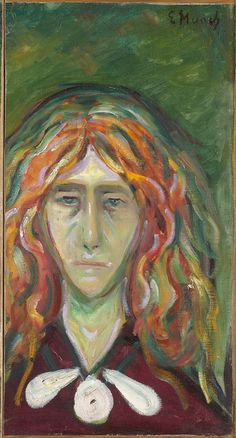 1905 Caricature Portrait of Tulla Larsen oil on canvas 62 x 33 cm Munch Museum, Oslo