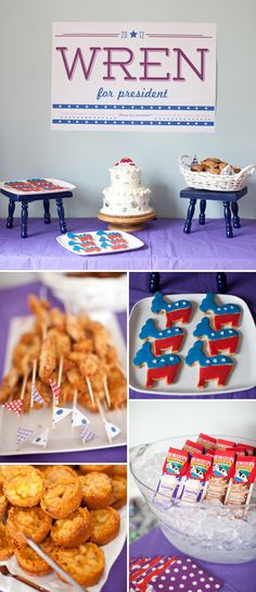 Election Themed Birthday Party - Hmmmm First Lady Themed???