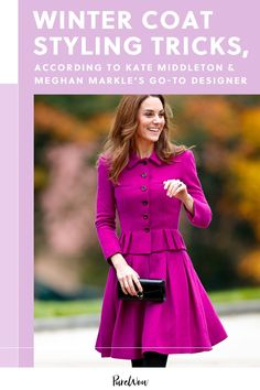It was the Meghan Markle Sentaler coat to remember. But Kate loves the brand, too. Here, how to pull off a winter coat like a royal. #winter #coat #styling