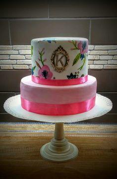Paint ,name days ,pink cake