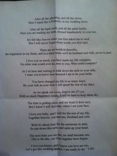 Sweetest thing I ever read...def giving this to my future husband right before our wedding!!
