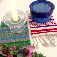 ノルウェー伝統の 織物 ラーヌ織 「テキスタイル長尾」 オリジナルで制作しました。
