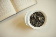 Oolong tea goes beautifully with a book - pic by Briana Morrison