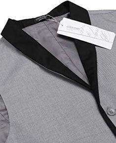 COOFANDY Gilet de Costume pour Homme Casual Mariage Business Veste sans  Manche - Gris - Taille 45f2d20d0e7