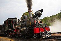 Part of the Estrada de Ferro Oeste de Minas (West Minas Railway), created in 1878, the 13km line from Tiradentes to Sao Joao Del Rei is the oldest working line in Brazil, Tiradentes, Minas Gerais, Brazil, South America
