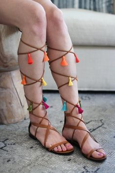If you're head over heels for embellished sandals, try this #DIY for giving basic lace-ups a boost.