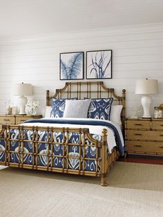 St. Kitts Rattan Bed