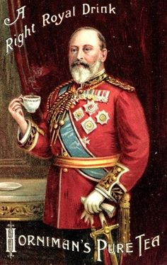 Proper Tea Etiquette:  Rule 1,  Don't forget to stick out your little finger when sipping tea with the King.