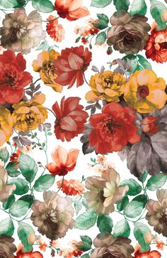 Some piece of summer and jungles for you) I love that bright big flowers, birds and colors. Cool to use as a wallpaper for your phones. Plus some nice examples of floral and tropical pattern on walls, furniture and clothes. Enjoy the summer! Pattern Floral, Tropical Pattern, Pattern Art, Flower Patterns, Kimono Pattern, Motifs Textiles, Textile Patterns, Print Patterns, Illustration Blume