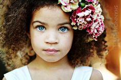 Prettiest eyes for a mixed girl that i have ever seen! Plus her hair is so cute! Beautiful Little Girls, Cute Little Baby, Beautiful Children, Beautiful Babies, Gorgeous Girl, Pretty Baby, Pretty Eyes, Beautiful Eyes, Amazing Eyes