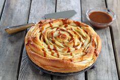 Apfelkuchen in Rosenform
