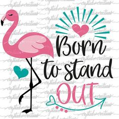 Designs with a purpose, customized gifts and presents. by CrySteelCreations Flamingo Birthday, Flamingo Party, Love One Another Quotes, Flamingo Shirt, Flamingo Outfit, Flamingo Costume, Happy Monday Quotes, Pink Flamingos, Flamingo Color