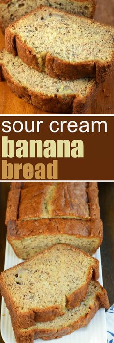 Lower Excess Fat Rooster Recipes That Basically Prime Add A Little Texture And Tang To Your Breakfast With This Sour Cream Banana Bread. The Addition Of Sour Cream In This Recipe Is Pure Genius For The Most Delicious, Moist Slice Of Banana Bread Chocolate Chip Recipes, Banana Bread Recipes, Brownie Recipes, Chocolate Chips, Sour Cream Banana Bread, Moist Banana Bread, Köstliche Desserts, Dessert Recipes, Snack Recipes