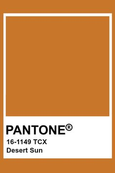 Pantone Desert Sun Paleta Pantone, Pantone Tcx, Pantone Swatches, Color Swatches, Pantone Color Chart, Pantone Colour Palettes, Pantone Colours, Colour Pallete, Color Schemes