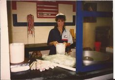 Here's Carmenn Crisante stand lady from Comiskey Park, 1990. Photo courtesy of Michael Ginsburg.