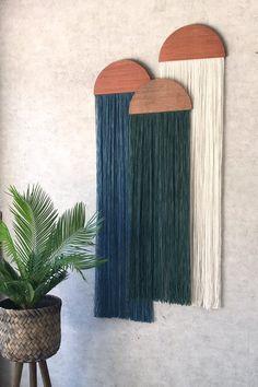 Casitawall hangingfiber artmid century modern | Etsy