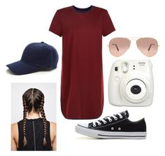 """""""Untitled #89"""" by carleelingard on Polyvore featuring New Look, Converse, Ray-Ban and Fujifilm"""