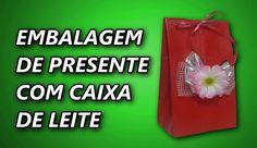 Embalagem de Presente Com Caixa de Leite