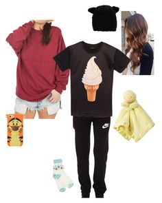 """"""":cold clear night:  I think I'll just lay here.."""" by babyjones3 ❤ liked on Polyvore featuring NIKE, Lowie and Eugenia Kim"""