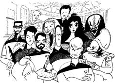 Can you name the TV Shows as drawn by Al Hirschfeld? Test your knowledge on this television quiz to see how you do and compare your score to others. Quiz by myitbos Celebrity Caricatures, Celebrity Drawings, Black And White Drawing, Black And White Portraits, Star Trek Crew, Star Trek 2009, Drawing Stars, Star Trek Movies, Felder