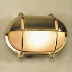 Trouva: Medium Oval Bulkhead With Eyelid - Polished Brass