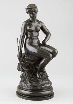 BARYE Antoine Louis, sculpture en bronze du 19e. JUNON