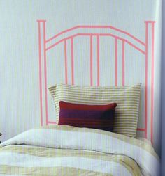 faux headboard with washi tape. Image from book: Fun with Washi by Jessica Okui, photos by Angie Cao