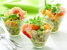 Салат из креветок коктейль рецепт фото