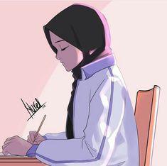 No photo description available. Disney Drawings, Cool Drawings, Hijab Drawing, Islamic Cartoon, Anime Muslim, Hijab Cartoon, Islamic Girl, Cute Cartoon Wallpapers, Anime Art Girl