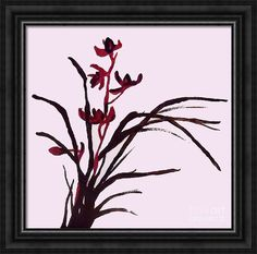 Oriental Flowers Framed Print featuring the painting Japanese Spring by Jilian Cramb - AMothersFineArt