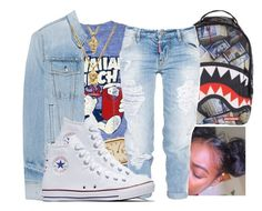 """""""Lipstick ~ Bahja Rodriguez"""" by retrovintagepizza ❤ liked on Polyvore featuring Archer, rag & bone, American Apparel, Dsquared2, Converse and The Gold Gods"""