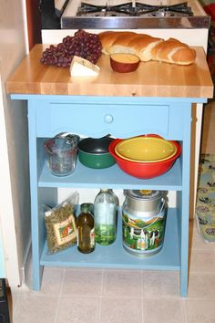 Add extra workspace to your kitchen with a butcher block table from HGTV's Design on a Dime >> http://www.hgtv.com/design/rooms/kitchens/how-to-build-a-butcher-block-table?soc=pinterest