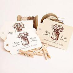 Etiquetas personalizadas detalles boda