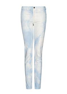 Tie dye cropped trousers