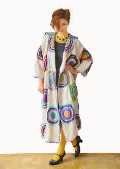 Plus size women clothing Long coat Size 3XL Plus size jacket Long cardigan Beige coat MADE TO ORDER