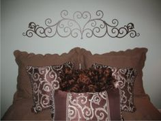 Wrought Iron Vinyl headboard