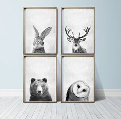 Hey, I found this really awesome Etsy listing at https://www.etsy.com/listing/243545698/wall-art-prints-animal-prints-woodland