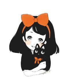 "Kiki and Jiji (From Miyazaki's ""Kiki's Delivery Service"")"