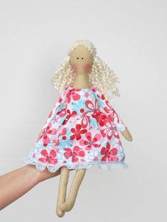 Rag doll cute fabric doll softie plush cloth by #HappyDollsByLesya