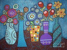 Cuadros Modernos Pinturas : flores