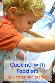 20 activities and cooking tasks for toddlers, plus lots of easy recipe ideas - helping to gain confidence in the kitchen and encouraging healthy eating!