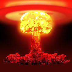 Atom bomb by ZalTehrani Nuclear Bomb, Nuclear War, Explosion Drawing, Bugs Bunny Drawing, Bomba Nuclear, Dreamland, Knight Tattoo, Mushroom Cloud, Dark Art Drawings