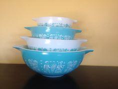 FULL SET Vintage Pyrex 4 pc Cinderella Nesting by BeKindVintage, $90.00