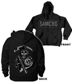 Sons of Anarchy SAMCRO Boxed Reaper Men`s Full Zip Hoodie for only $47.29 You save: $22.70 (32%) + Free Shipping