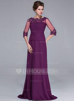 Mother of the Bride Dresses - $136.99 - A-Line/Princess Off-the-Shoulder Sweep Train Chiffon Tulle Mother of the Bride Dress With Ruffle Lace Beading Sequins (008025696) http://jjshouse.com/A-Line-Princess-Off-The-Shoulder-Sweep-Train-Chiffon-Tulle-Mother-Of-The-Bride-Dress-With-Ruffle-Lace-Beading-Sequins-008025696-g25696