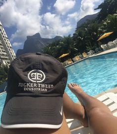 Tucker Tweed Embroidered Hat- Black/White