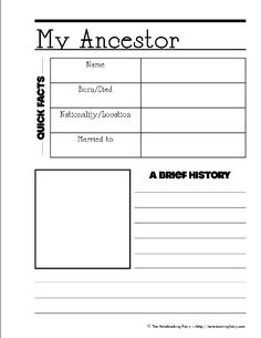 Ancestor Printable Notebooking Page Keep your individual ancestor genealogy facts with a photo together on a single information sheet. This will keep you organized and save time. For history. Genealogy Forms, Genealogy Sites, Genealogy Chart, Genealogy Research, Family Genealogy, Mormon Genealogy, Family Tree Research, Family Tree Chart, Family Trees