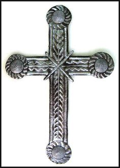 Metal Cross Wall Decor metal cross wall hanging - christian gift - christian wall decor